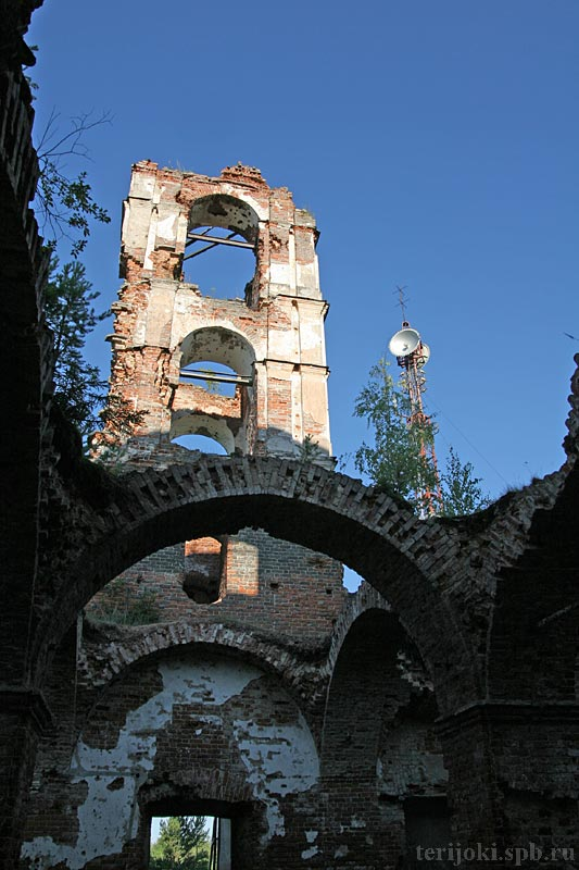 July 27, 2006. Ruins of the orthodox church