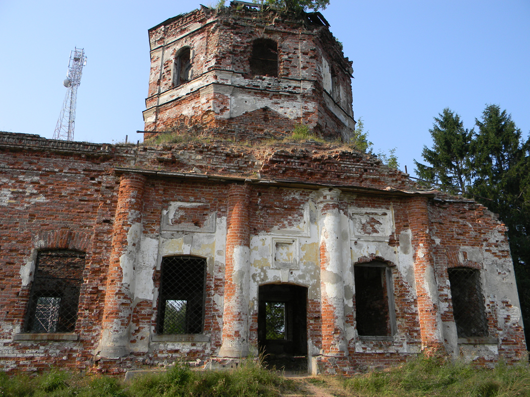 August 7, 2010. Ruins of the orthodox church