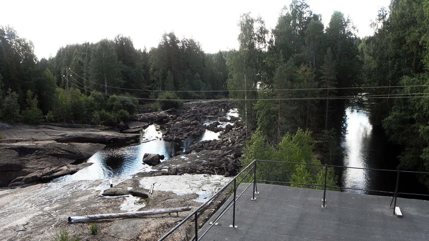 August 13, 2011. Suuri-Joki hydroelectric power plant
