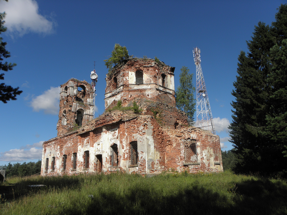 August 13, 2011. Ruins of the orthodox church