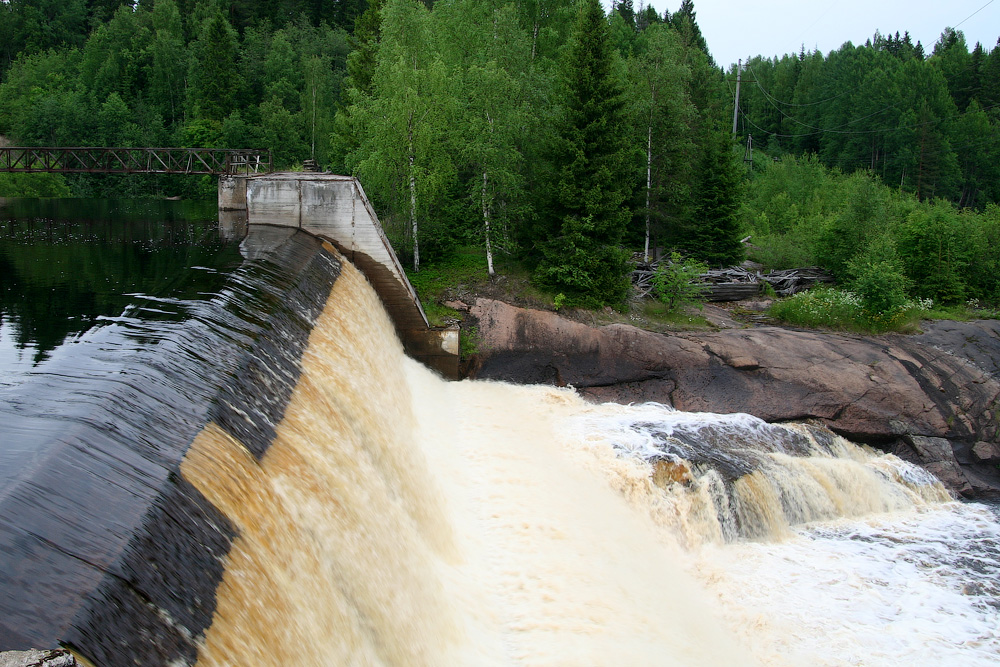June 29, 2010. Pieni-Joki hydroelectric power plant