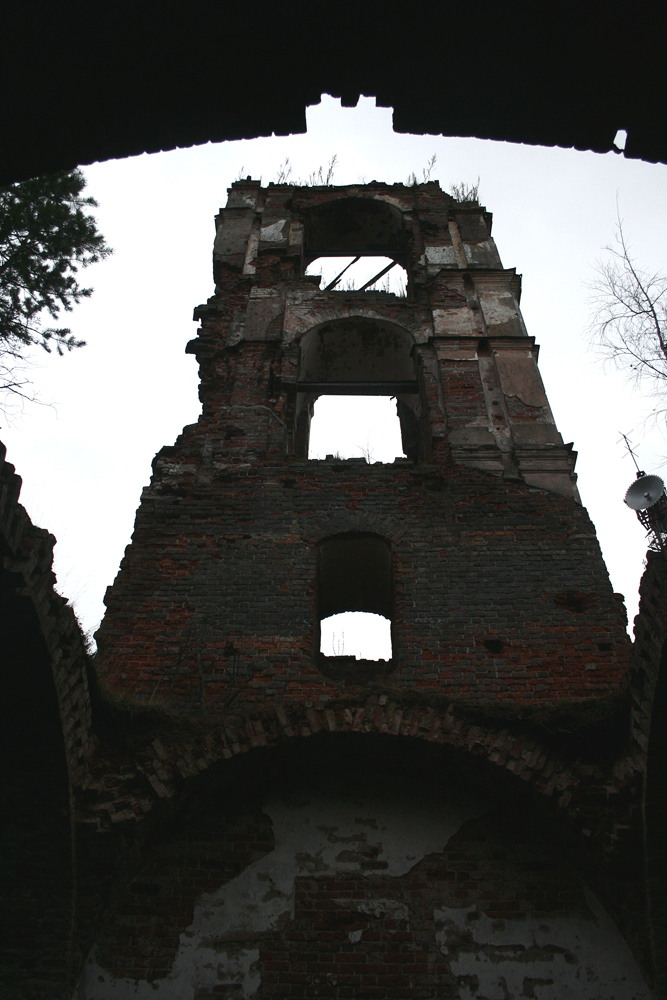 November 3, 2008. Ruins of the orthodox church