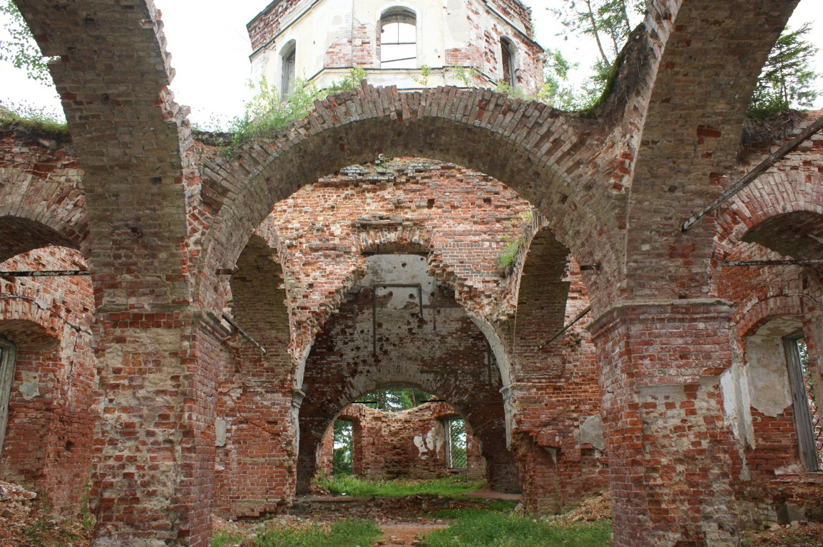 July 20, 2009. Ruins of the orthodox church