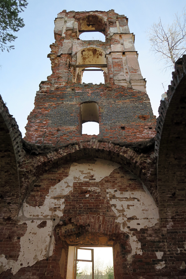 May 10, 2015. Ruins of the orthodox church