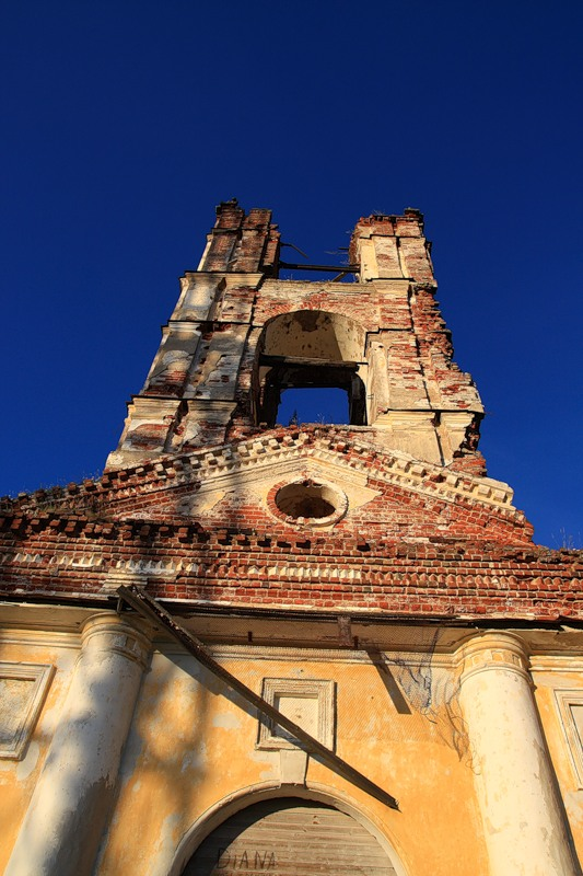 July 19, 2009. Ruins of the orthodox church