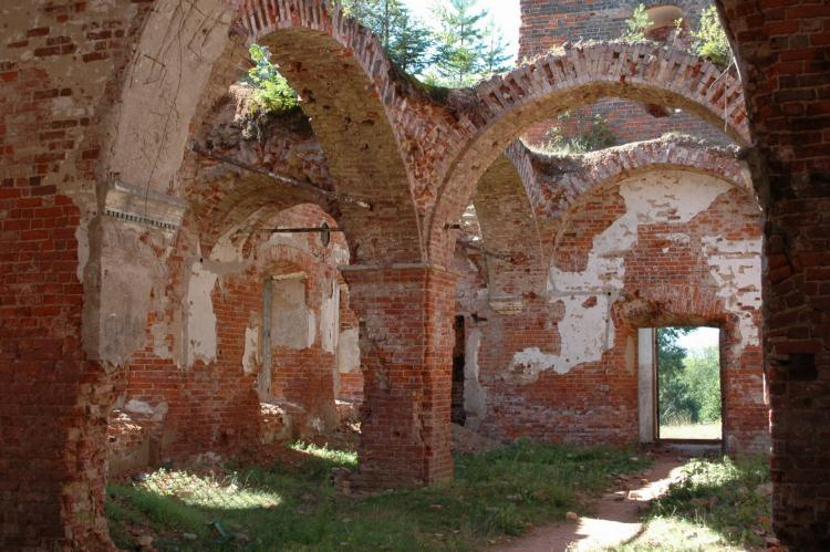 September 10, 2006. Ruins of the orthodox church