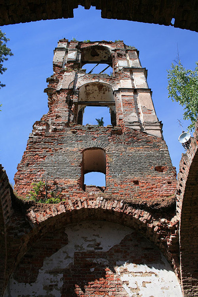 June 14, 2008. Ruins of the orthodox church