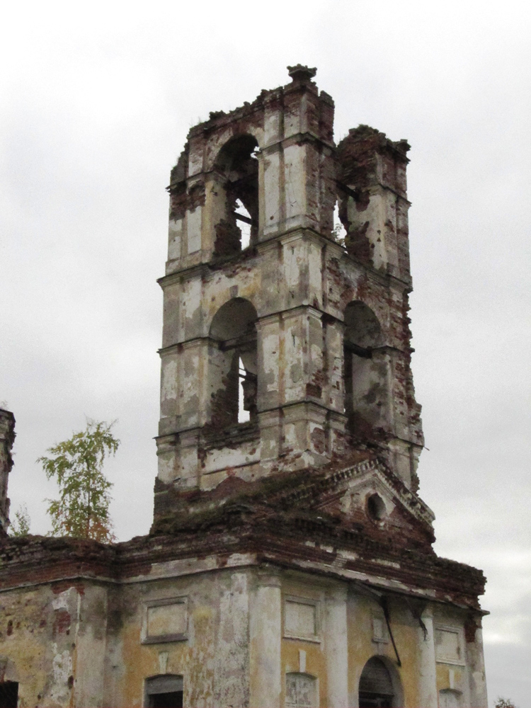 September 26, 2011. Ruins of the orthodox church