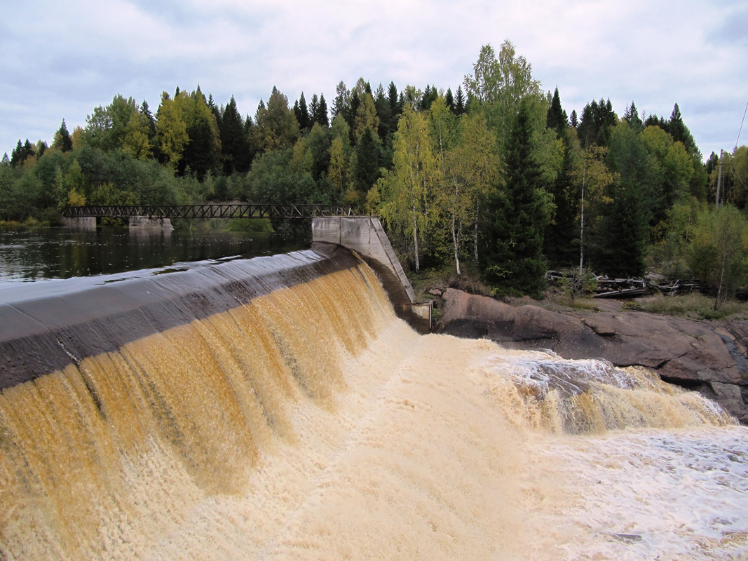 September 26, 2011. Pieni-Joki hydroelectric power plant