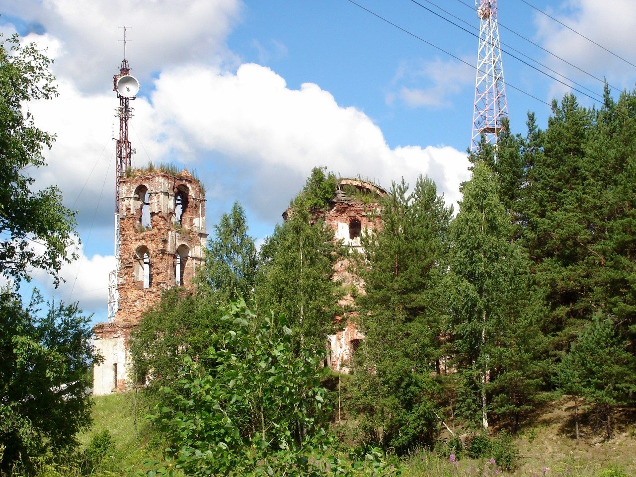 July 26, 2008. Ruins of the orthodox church