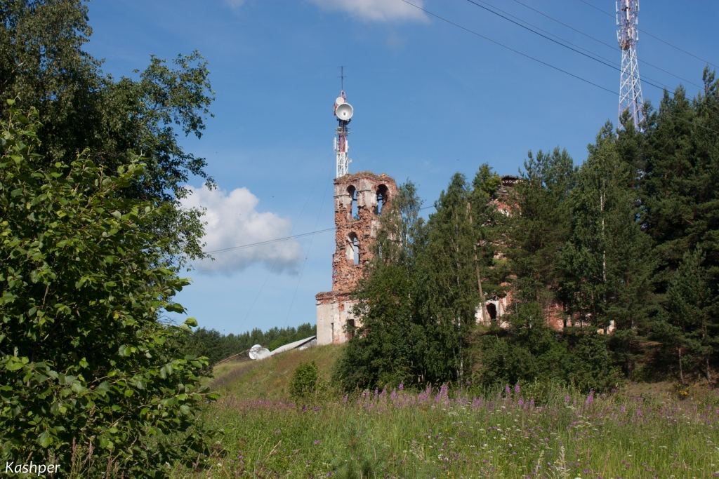 July 13, 2012. Ruins of the orthodox church
