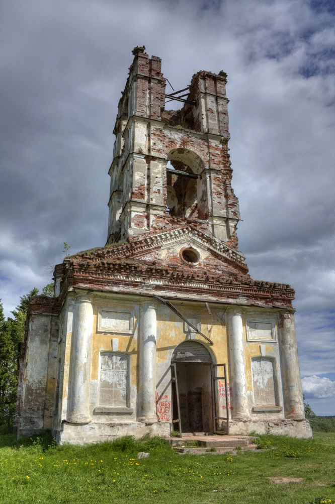 June 5, 2010. Ruins of the orthodox church
