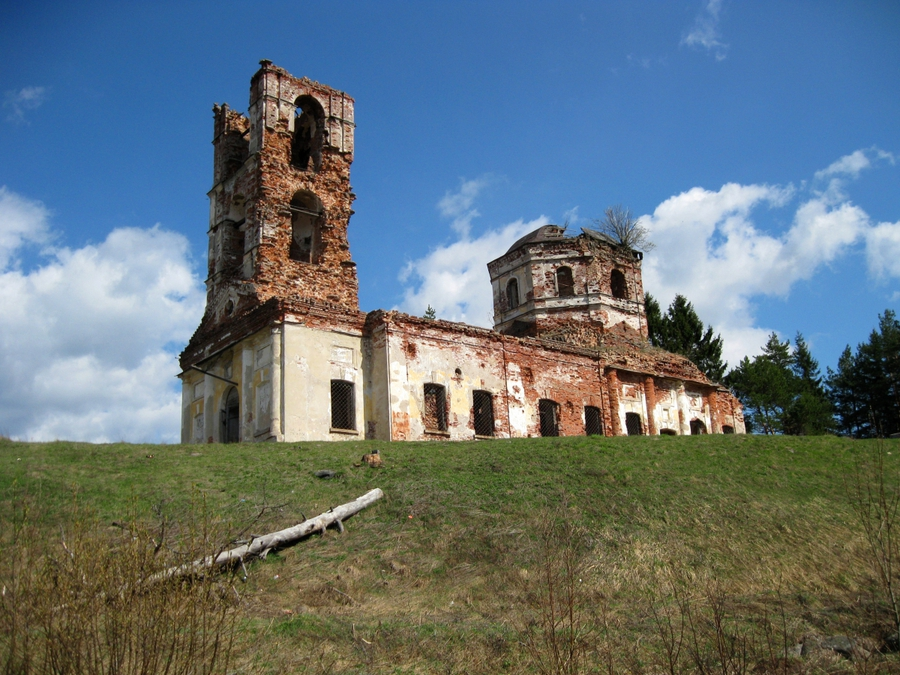 May 10, 2011. Ruins of the orthodox church
