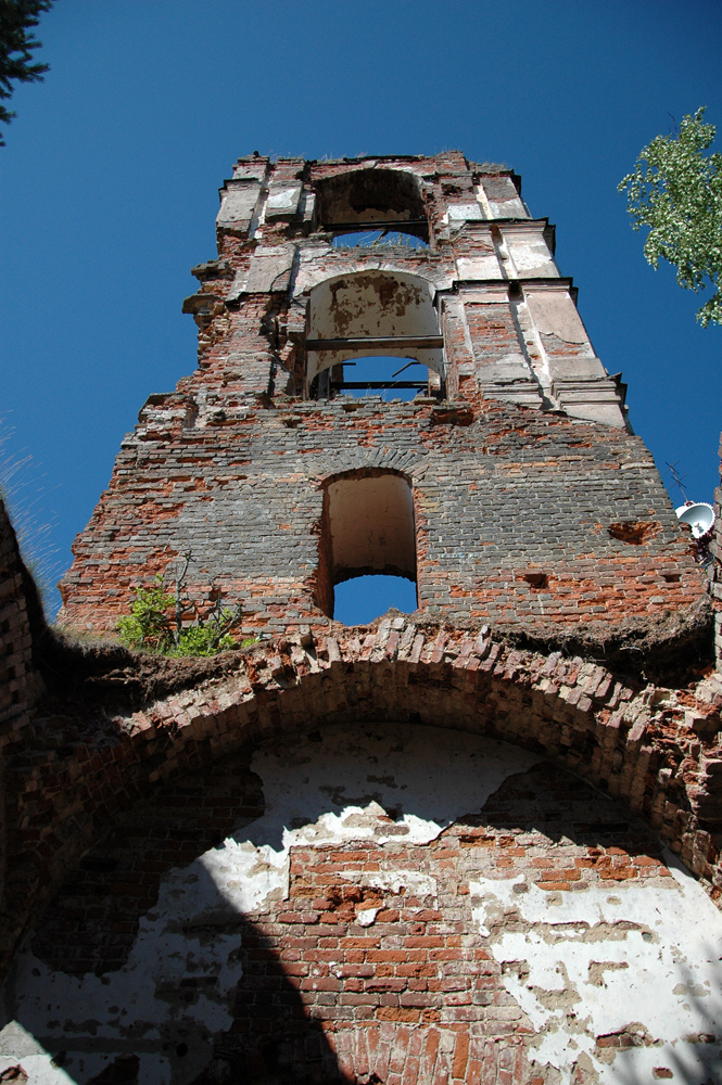 July 18, 2011. Ruins of the orthodox church
