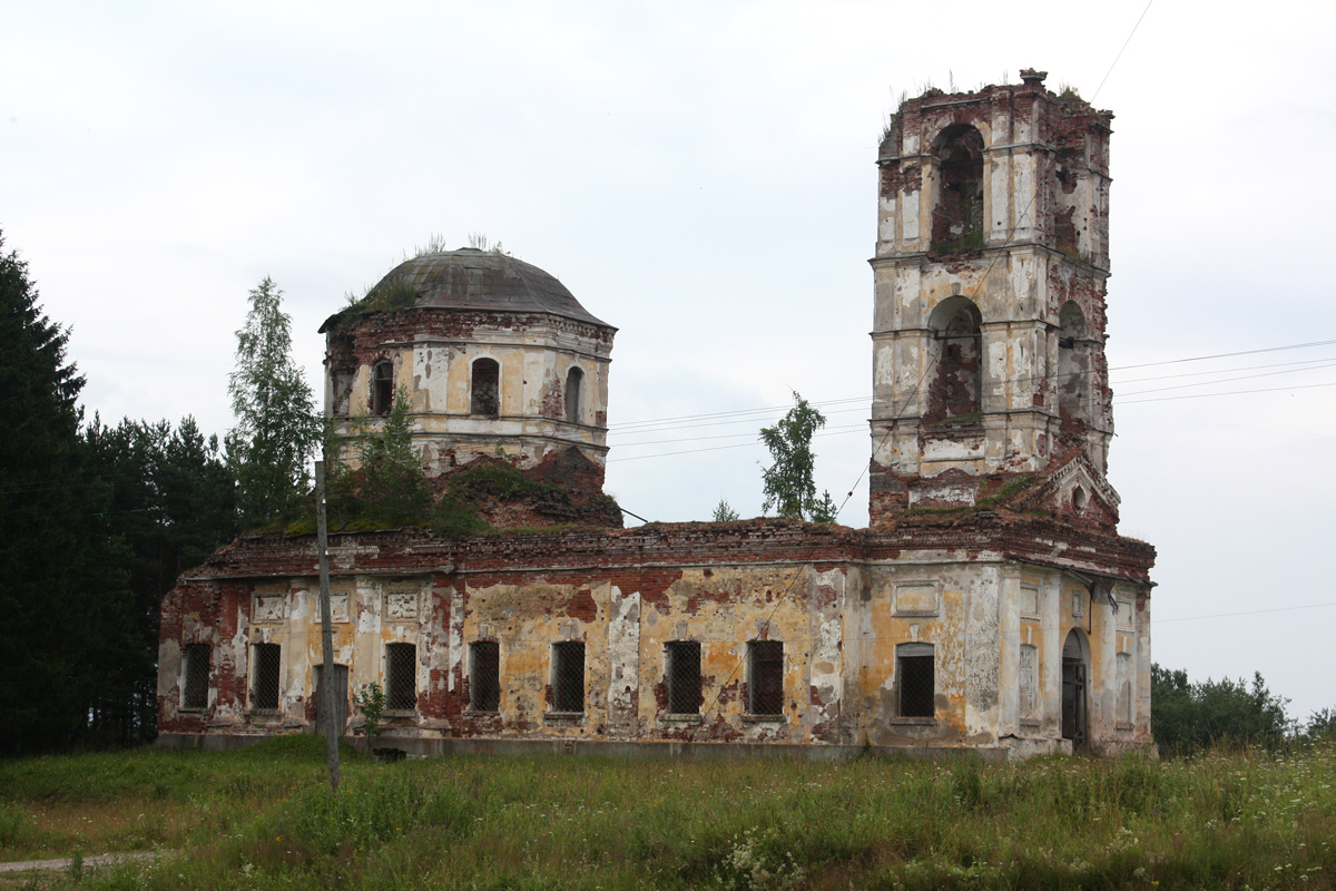 July 2009. Ruins of the orthodox church