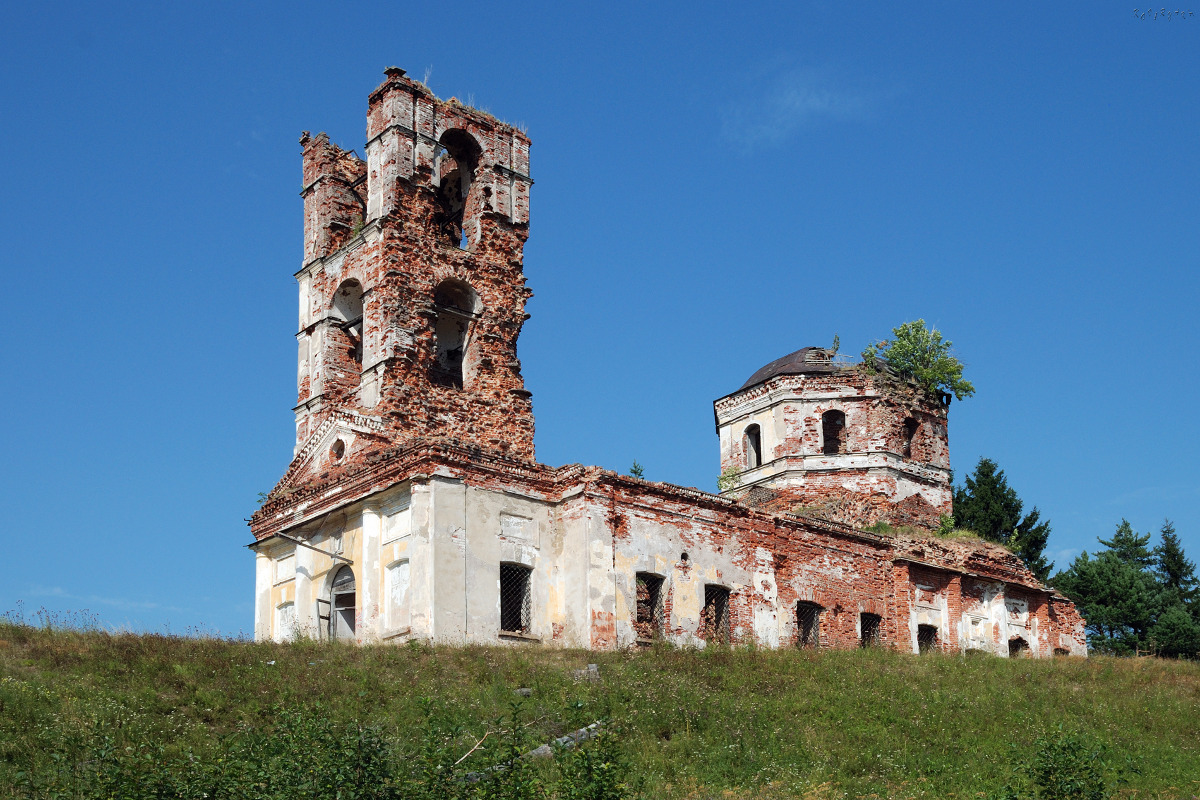 July 27, 2010. Ruins of the orthodox church