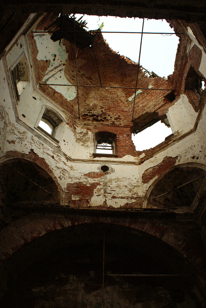 July 23, 2010. Ruins of the orthodox church