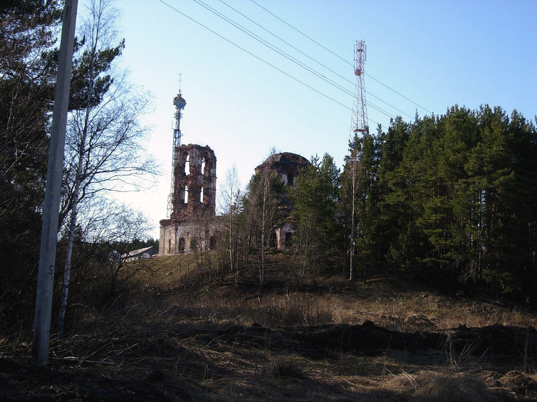 May 7, 2009. Ruins of the orthodox church