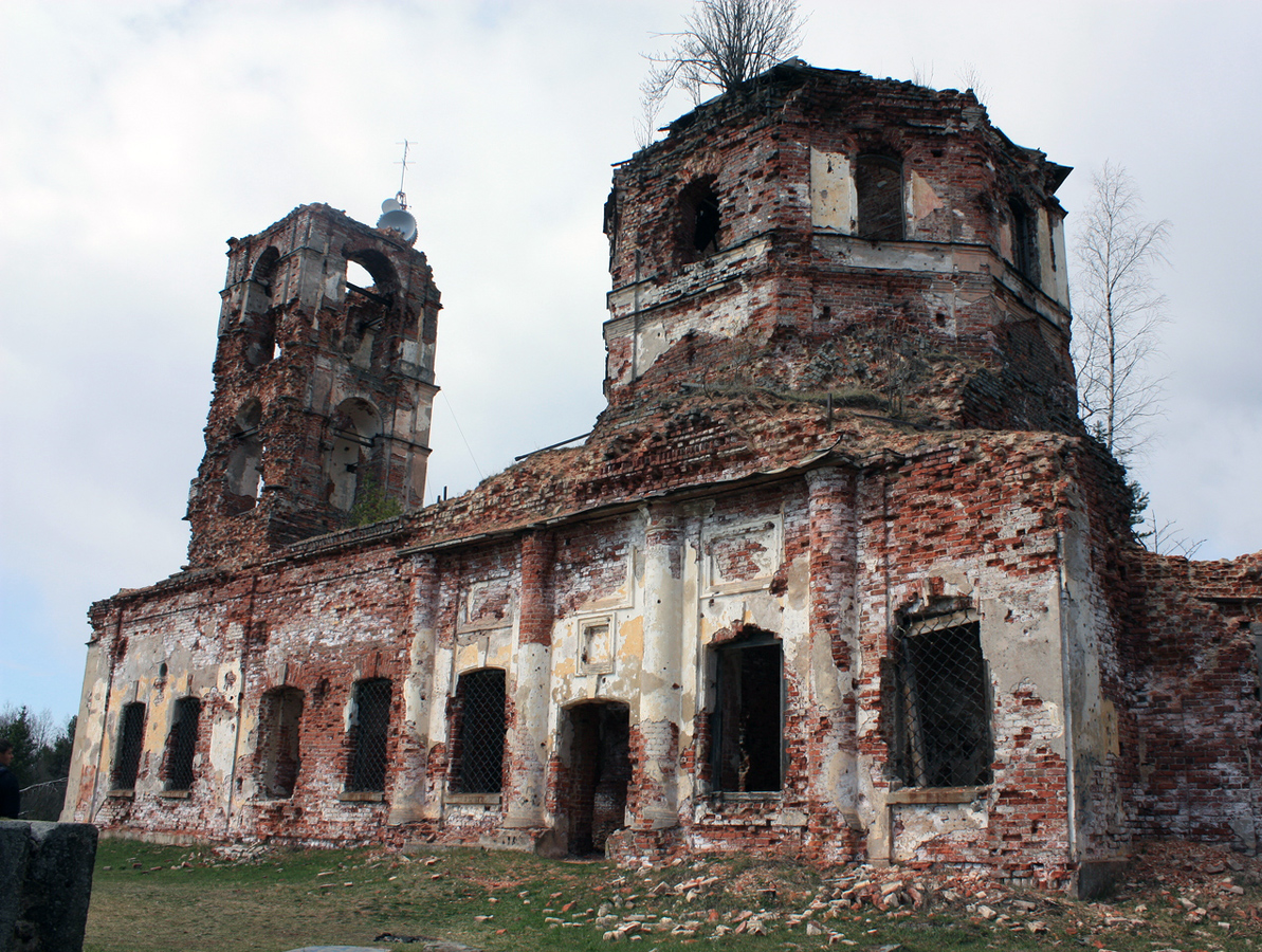 May 2, 2014. Ruins of the orthodox church