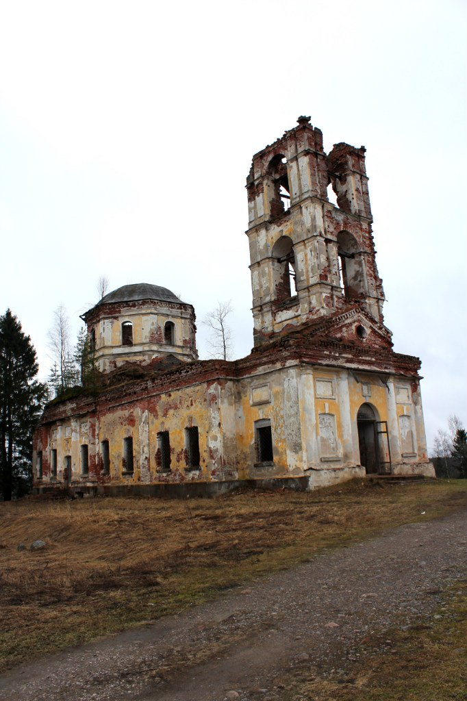 May 2015. Ruins of the orthodox church
