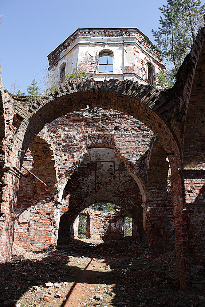 May 9, 2012. Ruins of the orthodox church