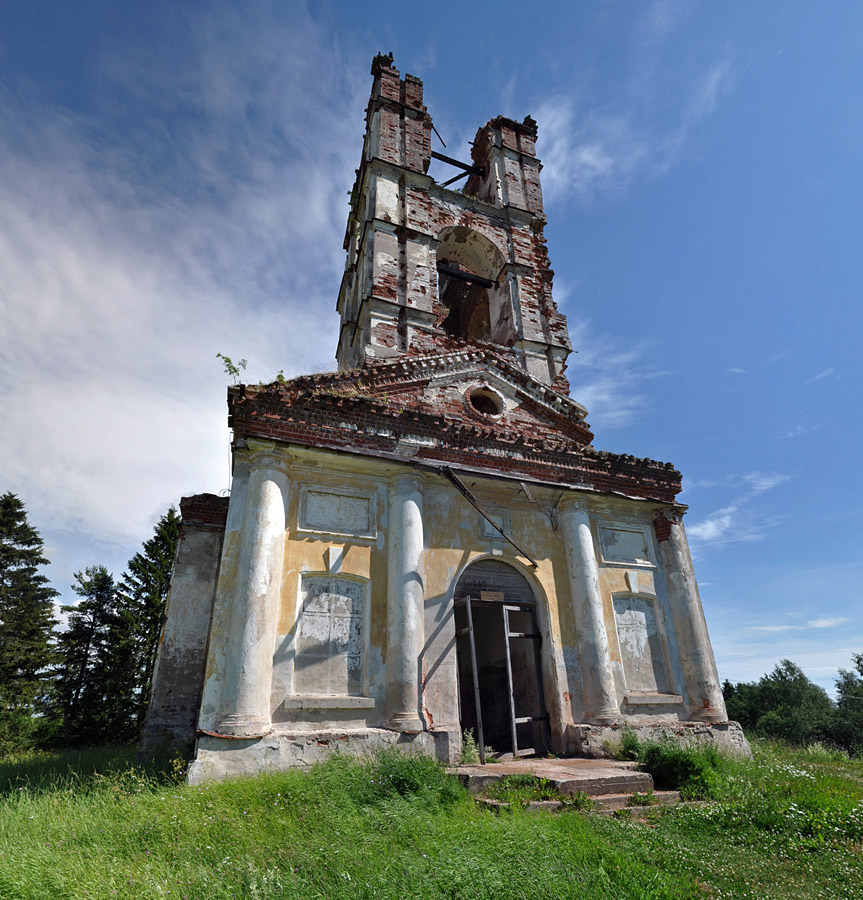 July 2012. Ruins of the orthodox church
