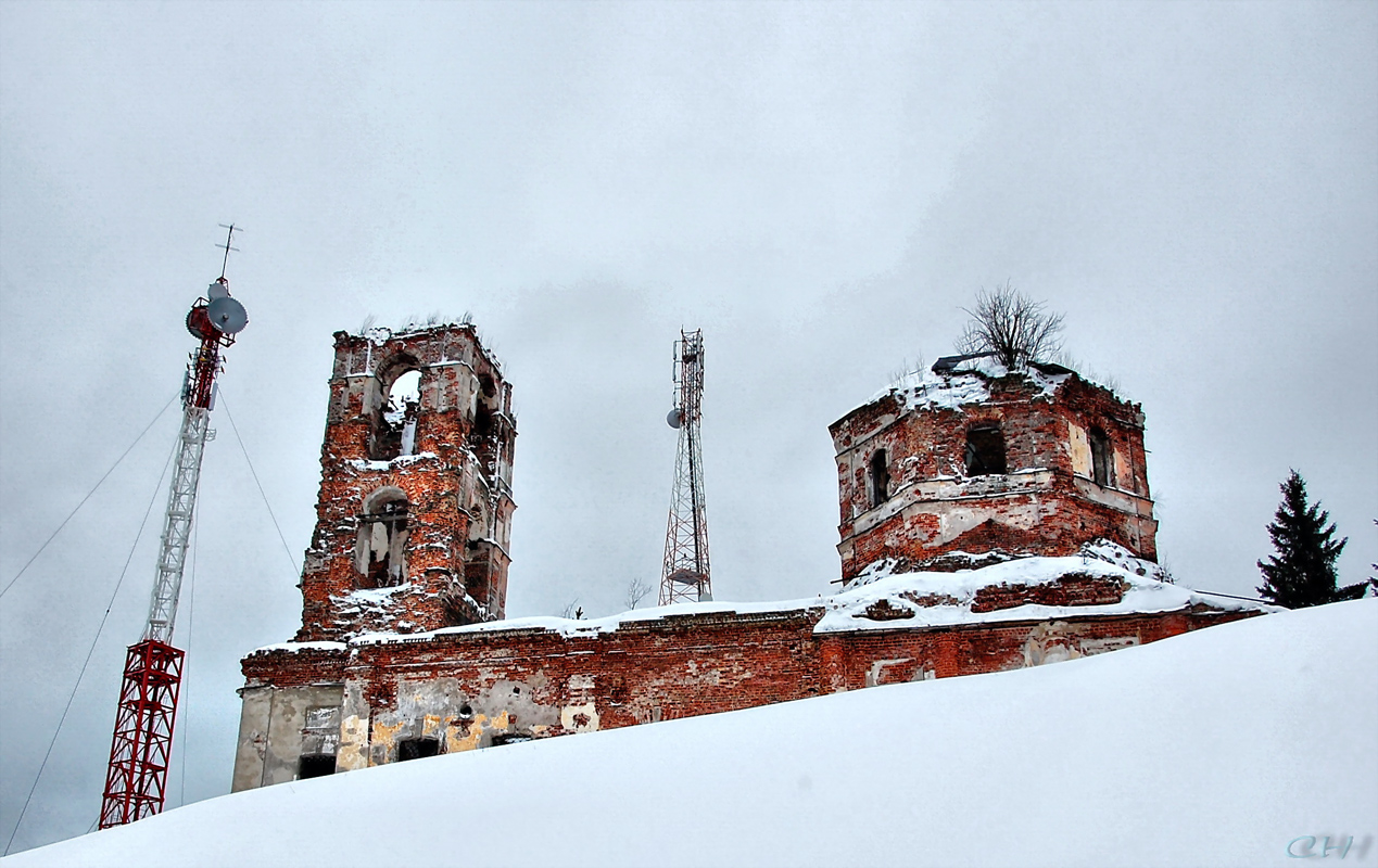 December 2009. Ruins of the orthodox church