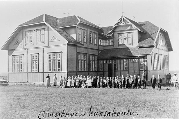 1920's. Orusjärvi. The Popular School