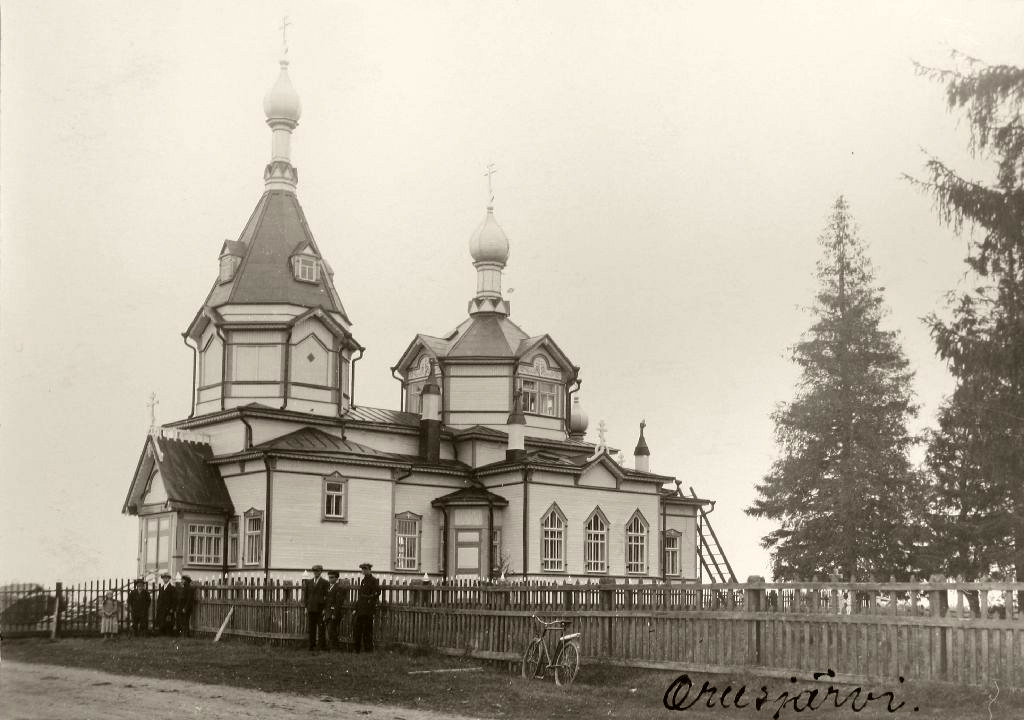 Late 1910's. Orusjärvi. The orthodox church