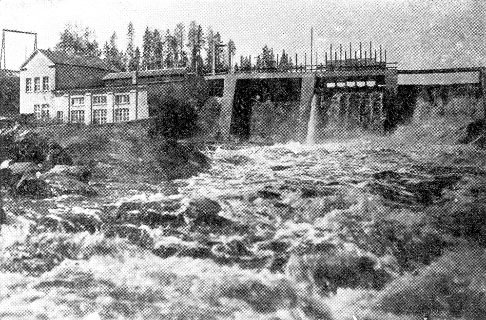 Late 1930's. Pieni-Joki hydroelectric power plant