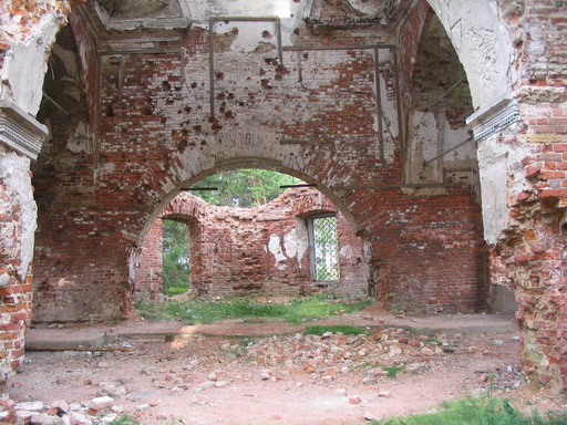 July 30, 2006. Ruins of the orthodox church