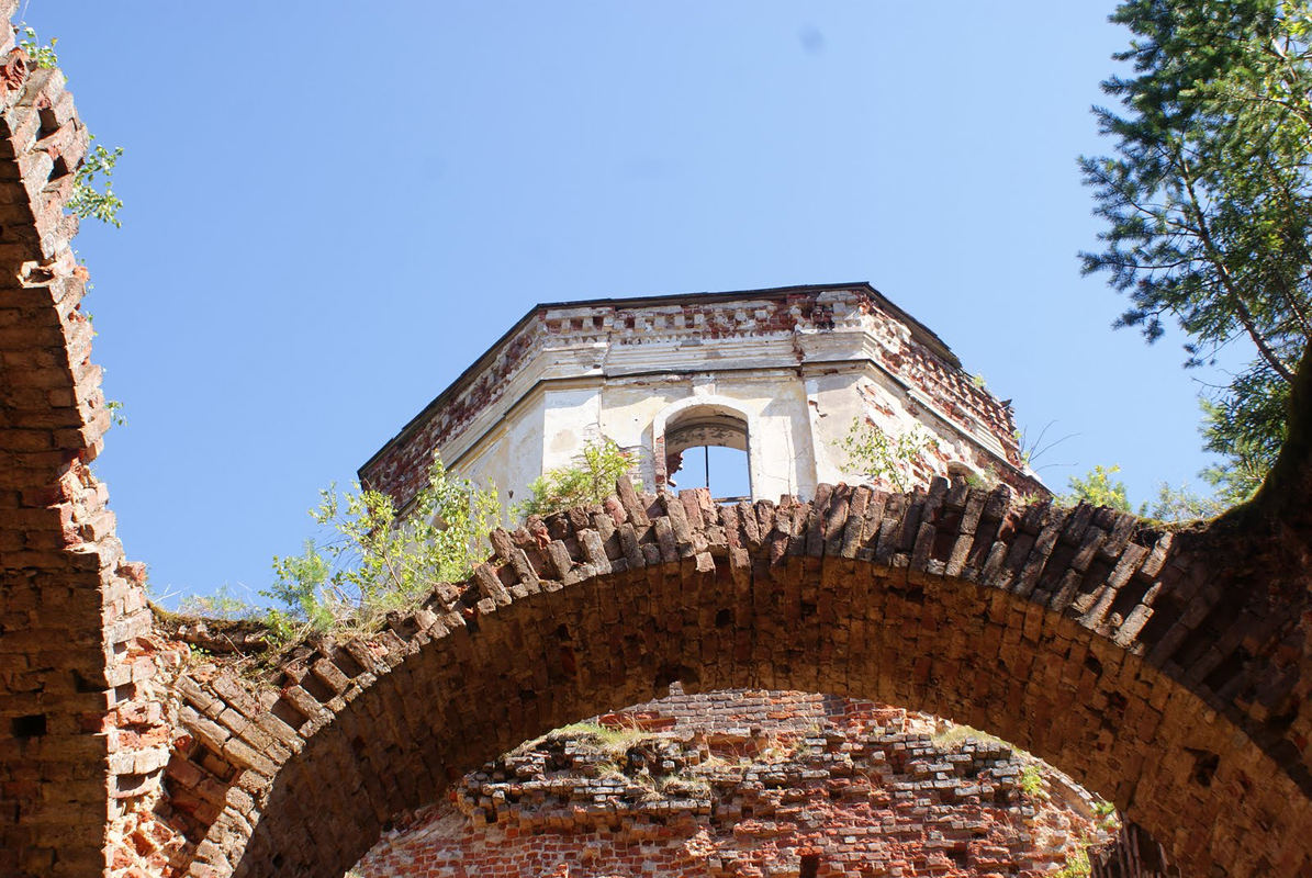 July 19, 2010. Ruins of the orthodox church
