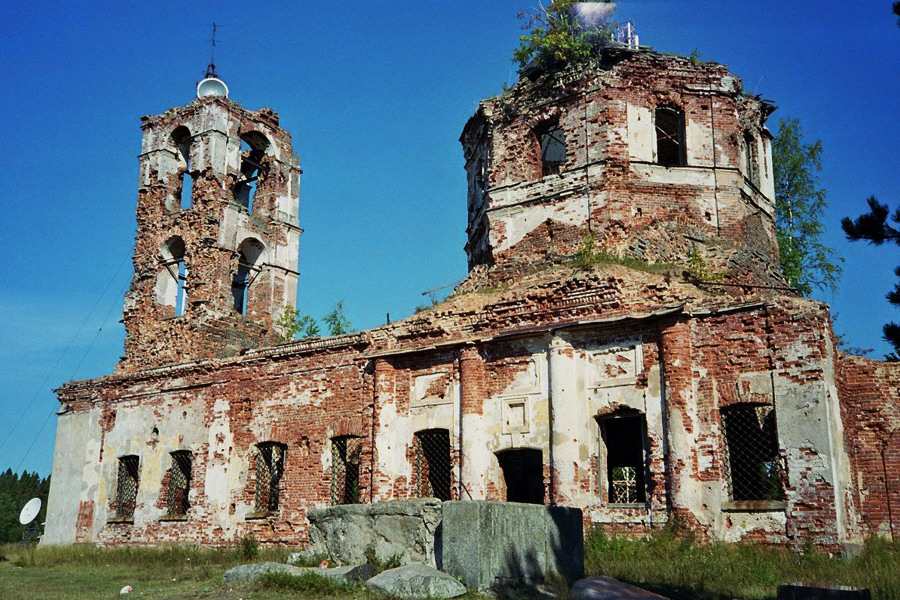 June 2007. Ruins of the orthodox church