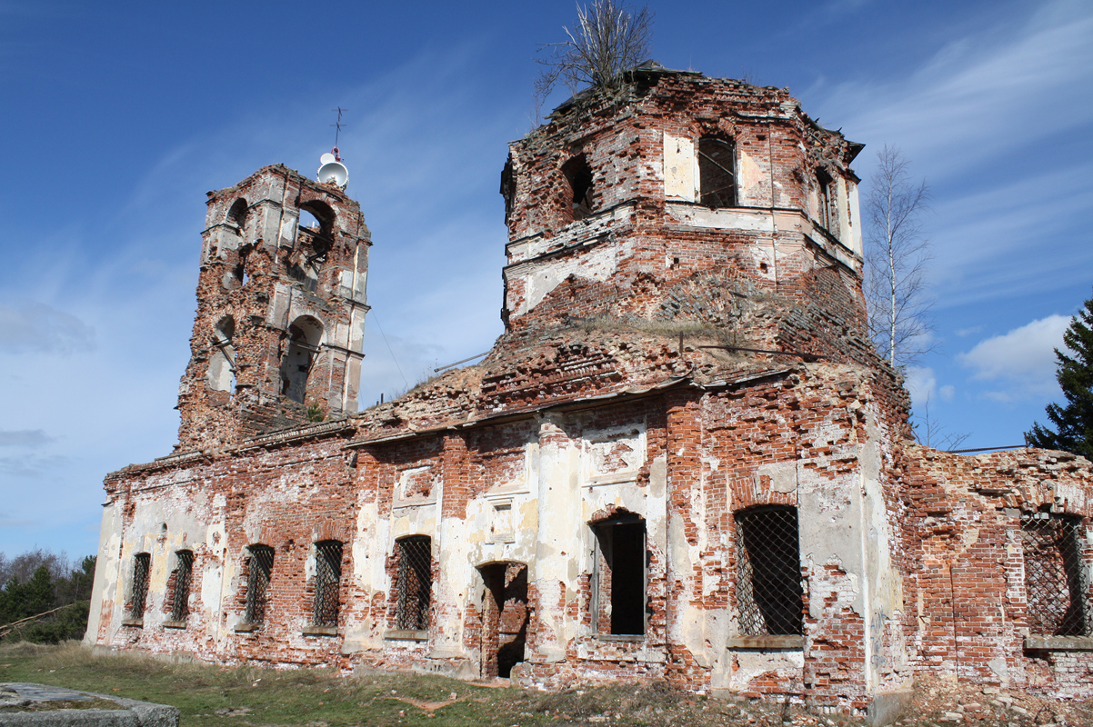 April 30, 2011. Ruins of the orthodox church