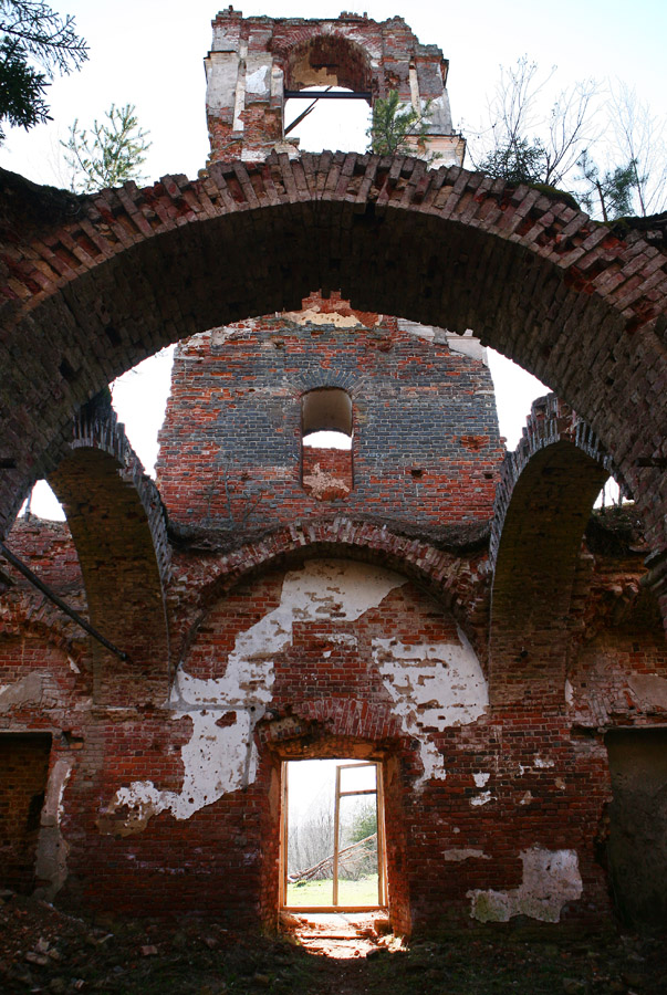 May 11, 2013. Ruins of the orthodox church
