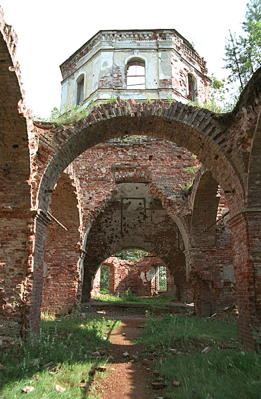 August 7, 2005. Ruins of the orthodox church