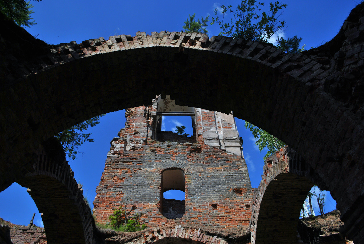 July 3, 2011. Ruins of the orthodox church