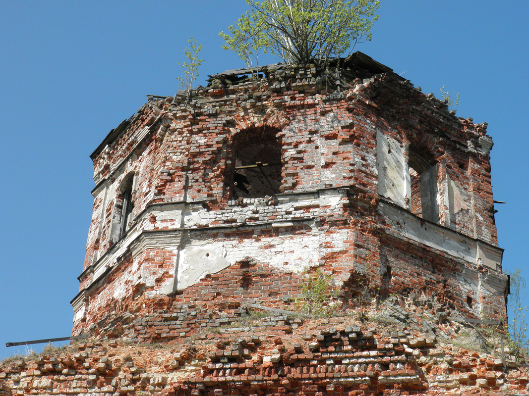 May 17, 2012. Ruins of the orthodox church