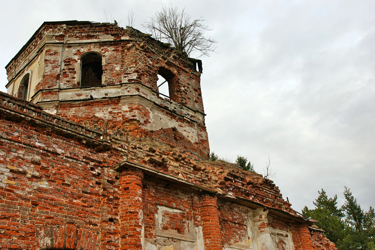 May 2011. Ruins of the orthodox church