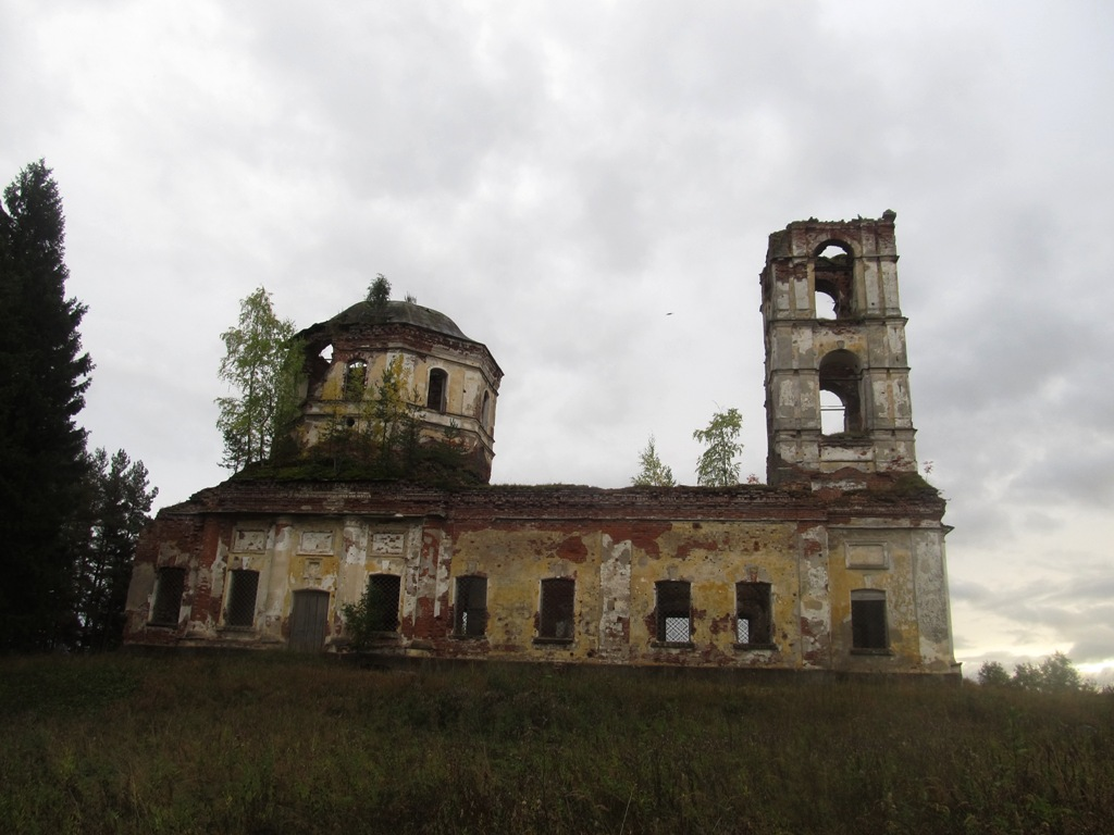 September 22, 2013. Ruins of the orthodox church
