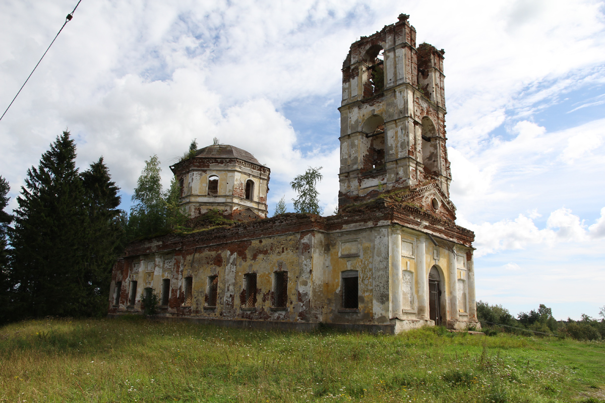 September 21, 2012. Ruins of the orthodox church