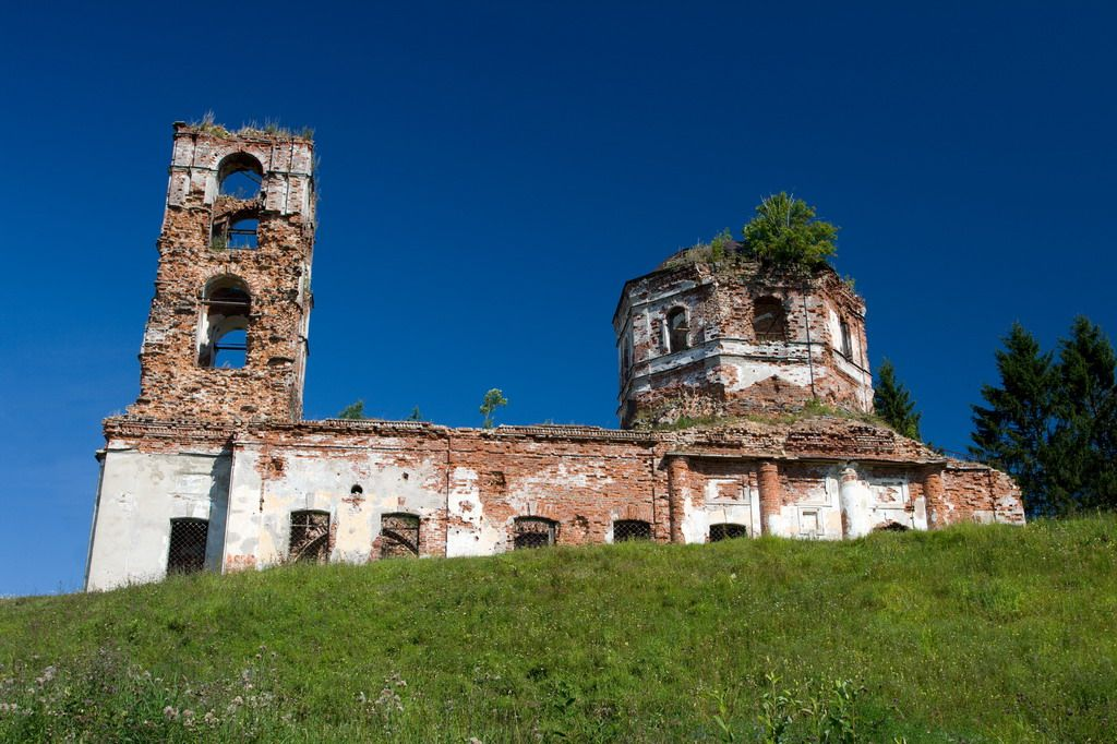 July 30, 2010. Ruins of the orthodox church