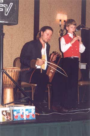 2003. Son and Dad together on stage