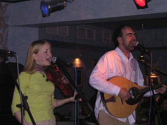 March 27, 2005. Performing in the new art-cafe FM