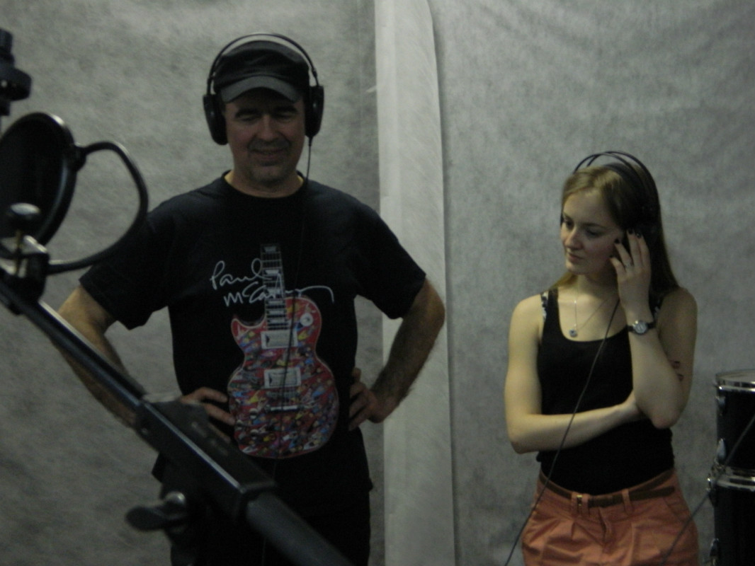 April 20, 2013. Recording the Joo Kyll�! album