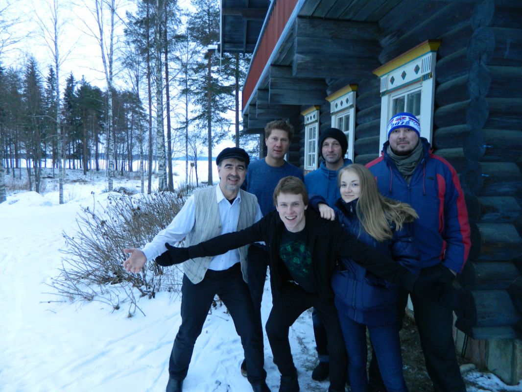 January 26, 2014. After the gig at the Karelian center Bomba-talo