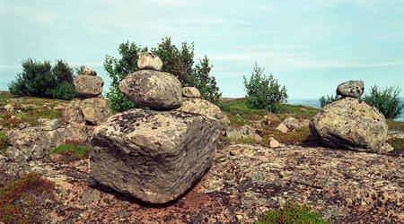 1996 год. Сейды острова Немецкий Кузов на Белом море