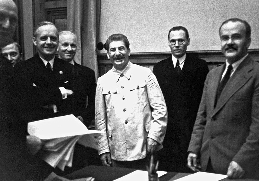 August 23, 1939. Moscow. Signing of Nonaggression Pact between the German Reich and the USSR