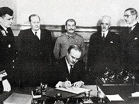 April 6, 1948. Moscow. Signing of the Finnish–Soviet Agreement of Friendship, Coöperation, and Mutual Assistance