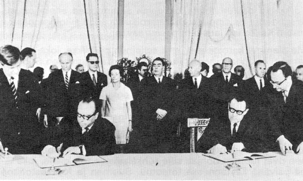 July 20, 1970. Moscow. Signing of the Protocol for Finnish–Soviet Agreement of Friendship, Coöperation, and Mutual Assistance